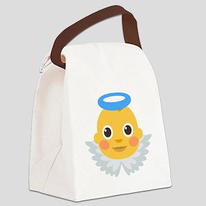 Baby-Angel Emoji Canvas Lunch Bag