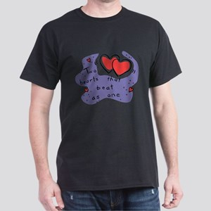 Two Hearts Beat As One Dark T-Shirt