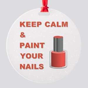 PAINT YOUR NAILS Round Ornament