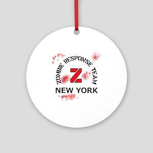Zombie Response Team New York Round Ornament