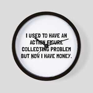 Money Action Figure Problem Wall Clock