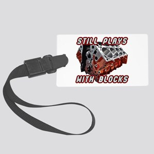Engine Block Large Luggage Tag