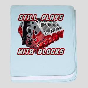 Engine Block baby blanket