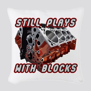 Engine Block Woven Throw Pillow