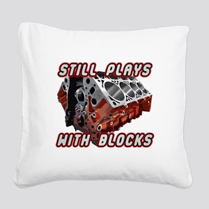 Engine Block Square Canvas Pillow