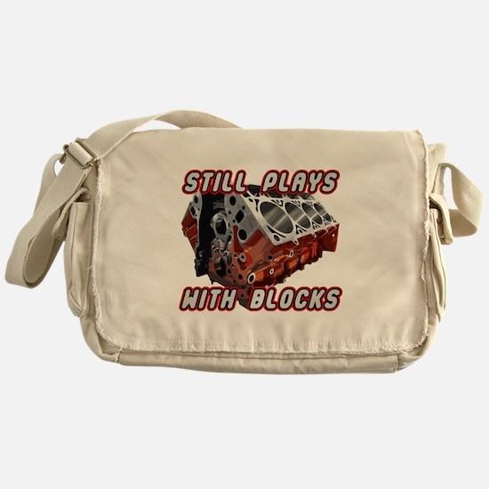 Engine Block Messenger Bag