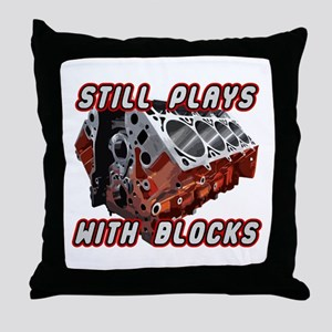 Engine Block Throw Pillow