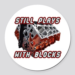 Engine Block Round Car Magnet