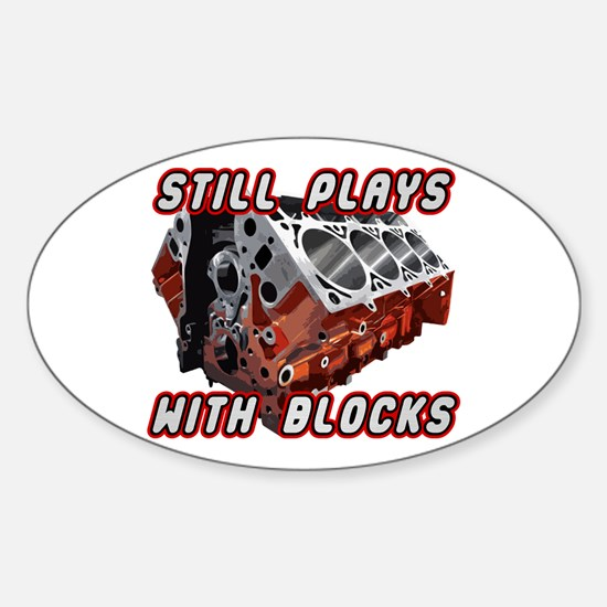 Engine Block Sticker (Oval)