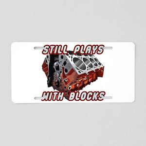 Engine Block Aluminum License Plate
