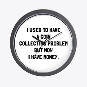 Money Coin Collecting Problem Wall Clock