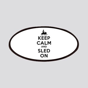 Keep Calm Sled On Patches