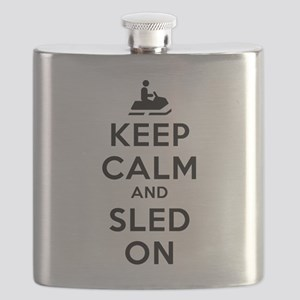 Keep Calm Sled On Flask