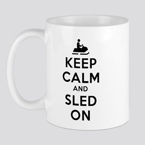 Keep Calm Sled On Mug