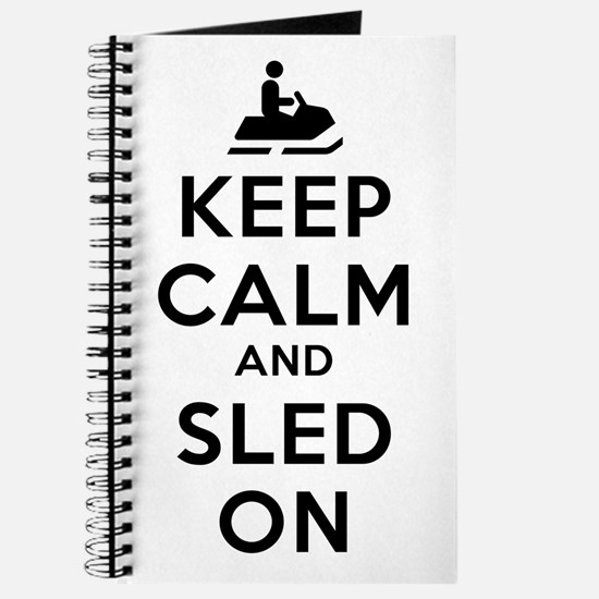 Keep Calm Sled On Journal
