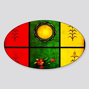 red yellow green Sticker (Oval)