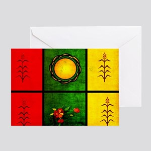 red yellow green Greeting Card