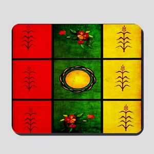 red yellow green Mousepad