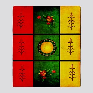 red yellow green Throw Blanket