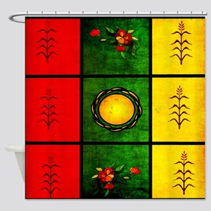 red yellow green Shower Curtain