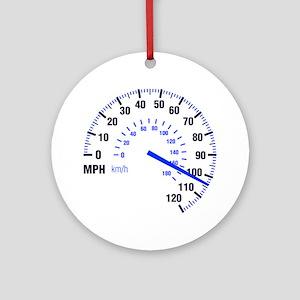 Racing - Speeding - MPH Ornament (Round)