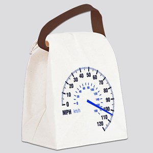 Racing - Speeding - MPH Canvas Lunch Bag