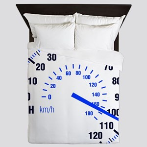 Racing - Speeding - MPH Queen Duvet