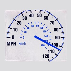 Racing - Speeding - MPH Throw Blanket