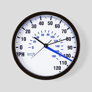 Racing - Speeding - MPH Wall Clock