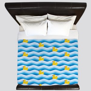 Rubber Ducky Swimming King Duvet