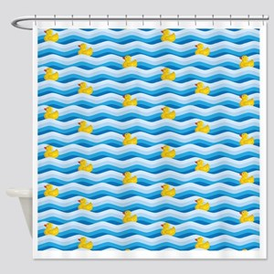 Rubber Ducky Swimming Shower Curtain