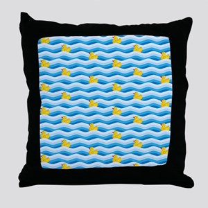 Rubber Ducky Swimming Throw Pillow
