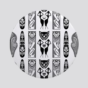 African Art - Tribal Ornament (Round)