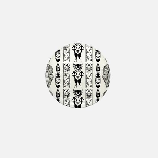 African Art - Tribal Mini Button (10 pack)