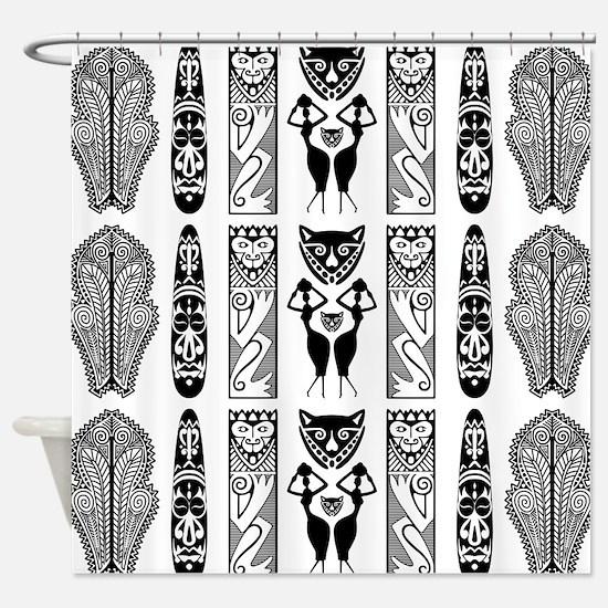 African Art - Tribal Shower Curtain