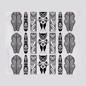 African Art - Tribal Throw Blanket