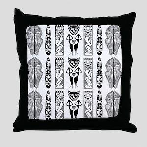 African Art - Tribal Throw Pillow