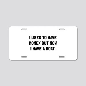 Money Now Boat Aluminum License Plate