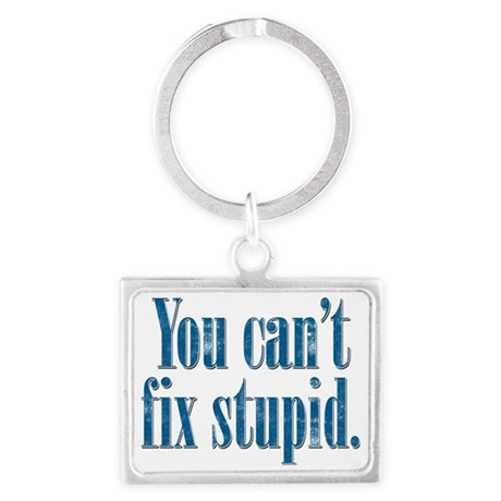 You Can't Fix Stupid Landscape Keychain