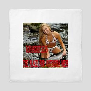 RodandRifleUS Bikini Fishing Queen Duvet