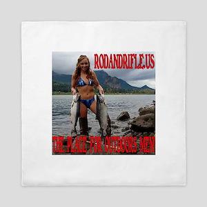 RodandRifleUS Big... Bass Queen Duvet
