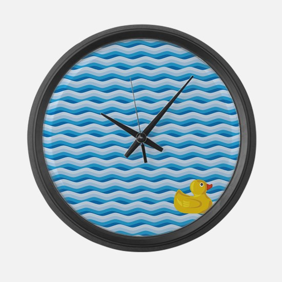 Lone Rubber Ducky Large Wall Clock