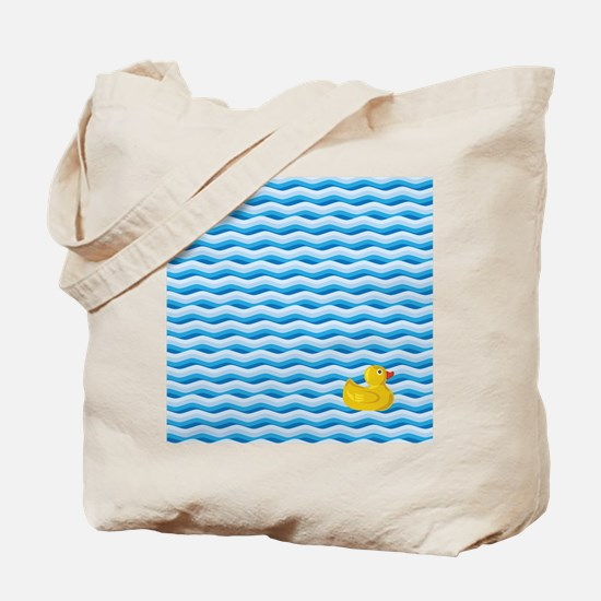 Lone Rubber Ducky Tote Bag