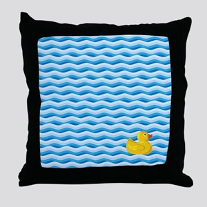Lone Rubber Ducky Throw Pillow