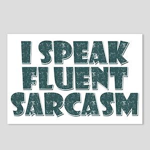 I Speak Fluent Sarcasm Postcards (Package of 8)
