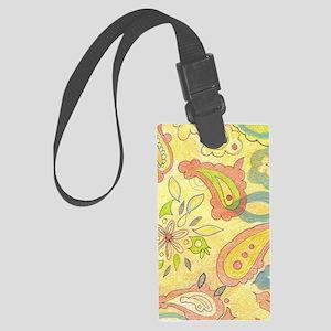 Cipasso Yellow Abstract Organic  Large Luggage Tag