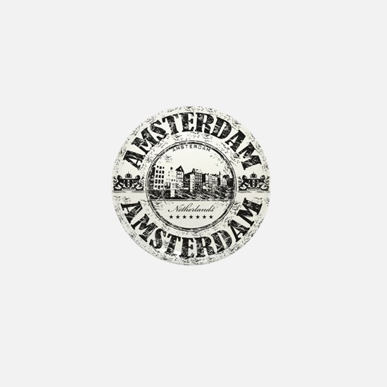 Amsterdam Seal Mini Button