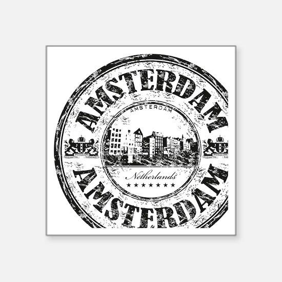 """Amsterdam Seal Square Sticker 3"""" x 3"""""""