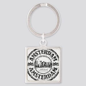 Amsterdam Seal Square Keychain
