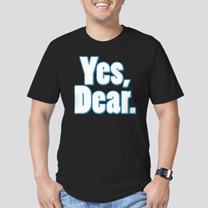 Yes, Dear Men's Fitted T-Shirt (dark)